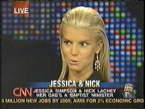 Nick Lachey & Jessica Simpson on the Larry King Show 10/14/03