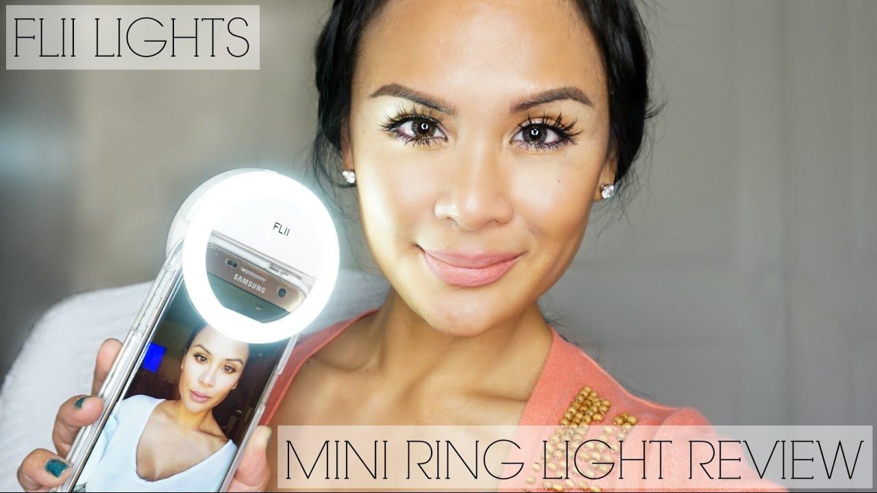 Flii Lights Mini Ring Light Review Selfie Video Fill Light Promo