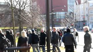 antiracister opsøger ballade med nationalister lørdag 3.3. 2012