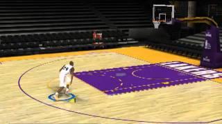 Kobe Bryant  - Slam DUNKS practice freestyle NBA 2k11 PC GamePlay