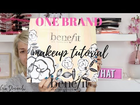 ONE BRAND MAKEUP TUTORIAL: BENEFIT COSMETICS & GIVEAWAY(CLOSED!!) || GIO DREVELI ||