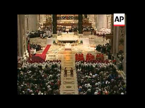 Pope Benedict XVI prayed at a Good Friday meditation service in St. Peter's Basilica ahead of a torc