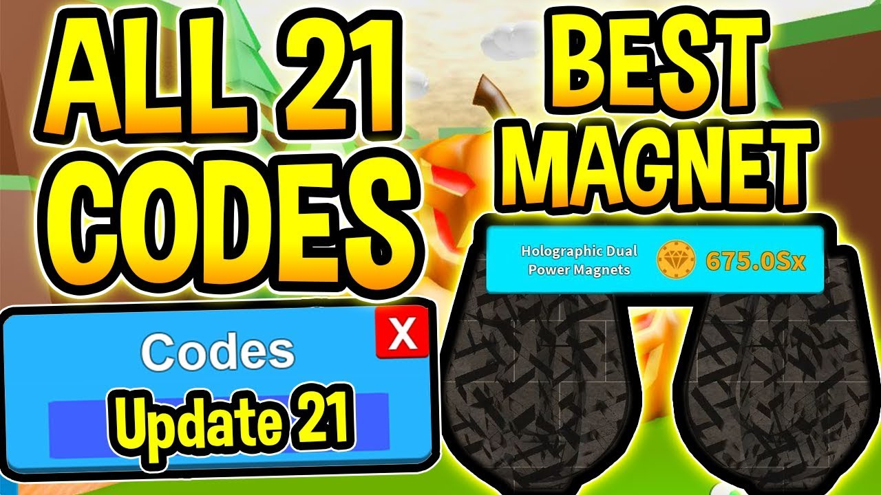 Youtube Roblox Magnet Simulator New Magnet Simulator Codes Update 21 Omega Roblox Youtube