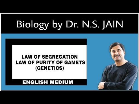 Law of Segregation (Law of Purity of Gametes) | English Medium