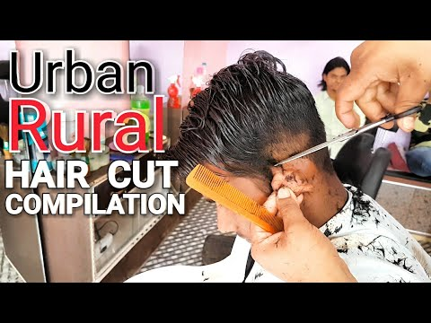 Urban-Rural hair cut with beard trimm compilation