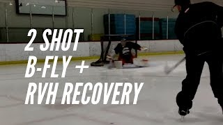 Goalie Drills: 2 Shot B Fly Post RVH Recovery