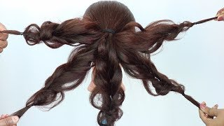 messy bun trick || easy hairstyles || updo hairstyles || wedding hairstyle || prom hairstyle