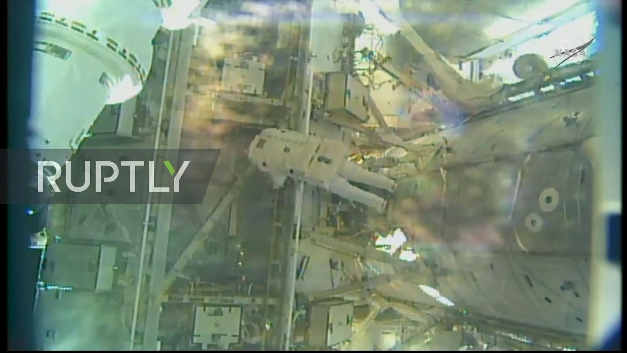 ISS: NASA spacewalkers install docking adapter on International Station