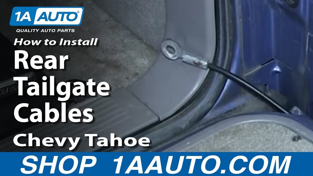 How To Install Replace Rear Tailgate Cables 1994 99 Chevy