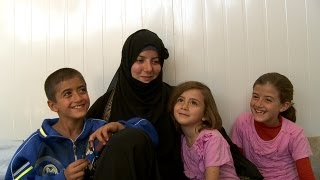 Family life in a Syrian refugee camp:
