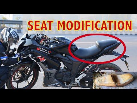 Modify and Change Seat for Motorcycle | Suzuki Gixxer SF Seat modification