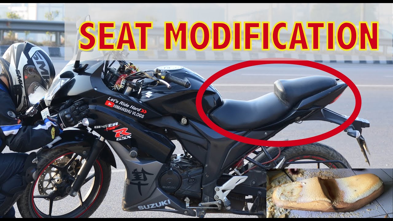 Modify And Change Seat For Motorcycle Suzuki Gixxer Sf Black Modified Modification
