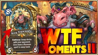 KING TOGWAGGLE VALUE! - WTF MOMENTS - Hearthstone Funny and lucky Rng Moments