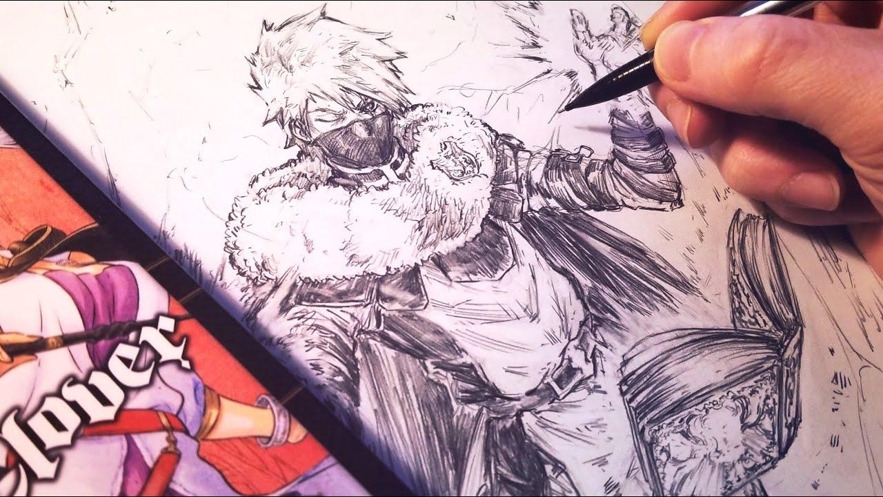 Drawing Kakashi Magic Knight Redesign Black Clover Anime Manga