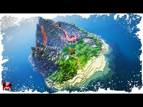 Minecraft Timelapse - Volcano Island (WORLD DOWNLOAD)