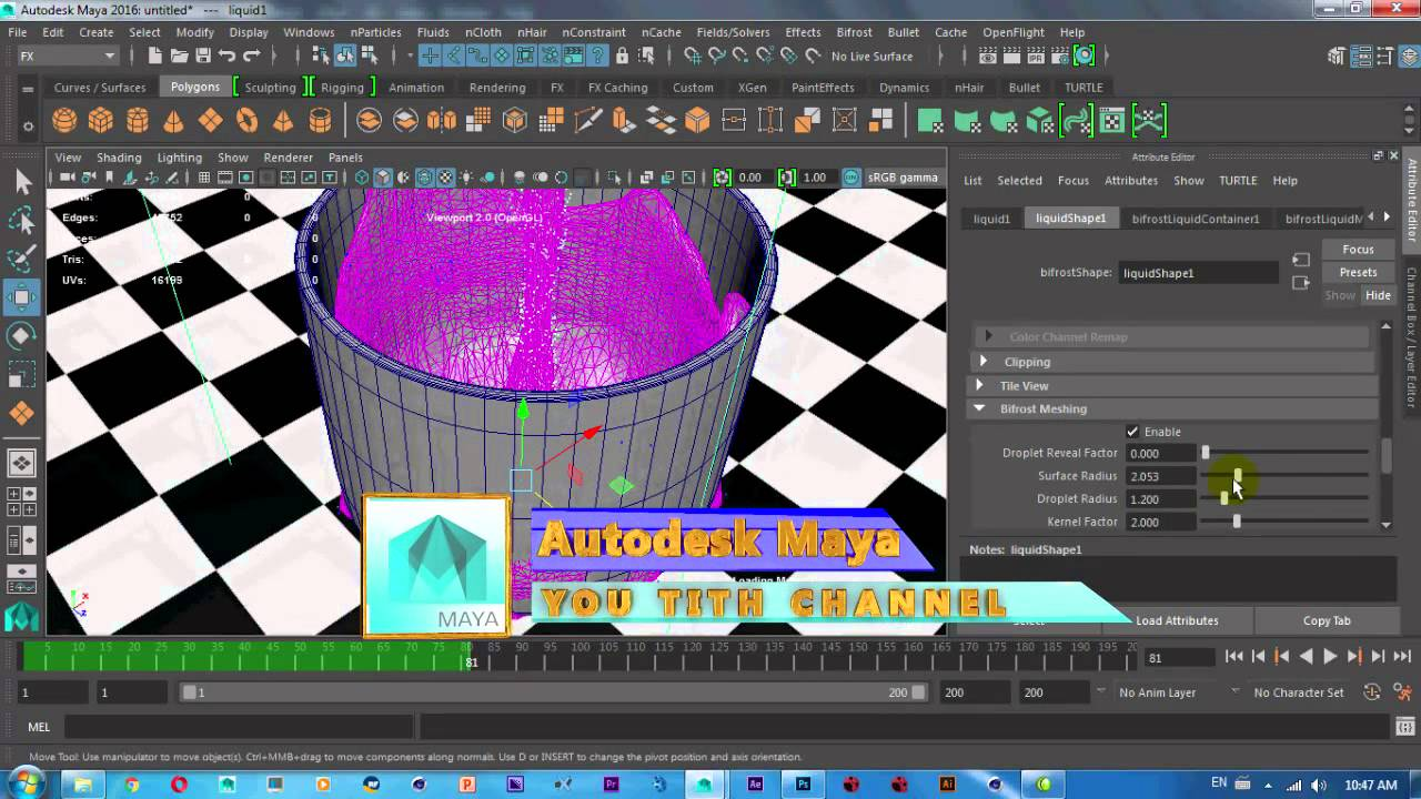 Creating a water splash in maya 2018 with bifrost – the last resort.