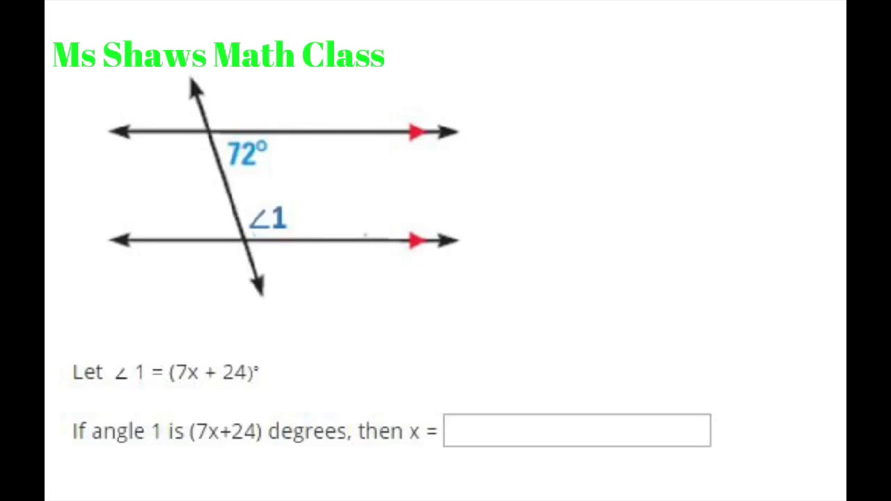 small resolution of Angles and lines unit test edgenuity