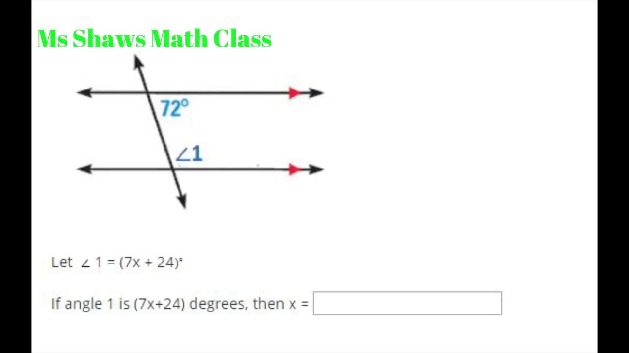 medium resolution of Angles and lines unit test edgenuity