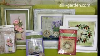 Наборы для вышивки лентами   ТМ Шелковый сад