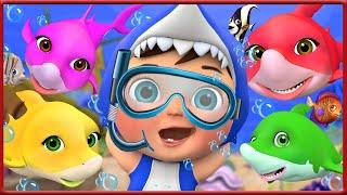 Baby Shark Dance | Baby under Sea play with shark | Banana Cartoon Songs for Children