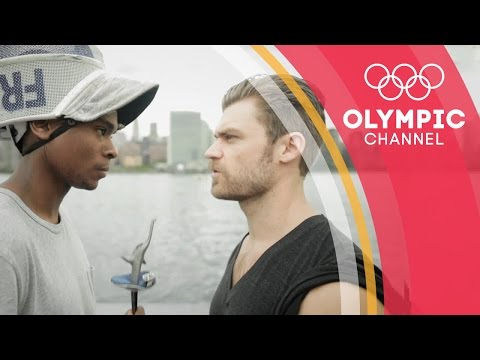 Can a fitness YouTuber survive an Olympic fencer's workout? | Hitting the Wall
