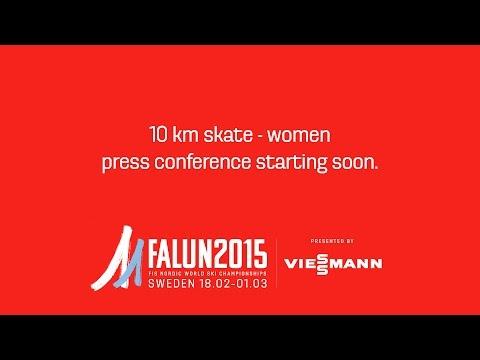 Press Conference - 10 km skate - Ladies