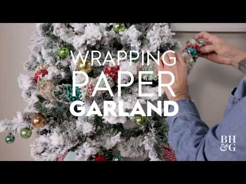 Wrapping Paper Garland | Made By Me - Crafts| Better Homes & Gardens