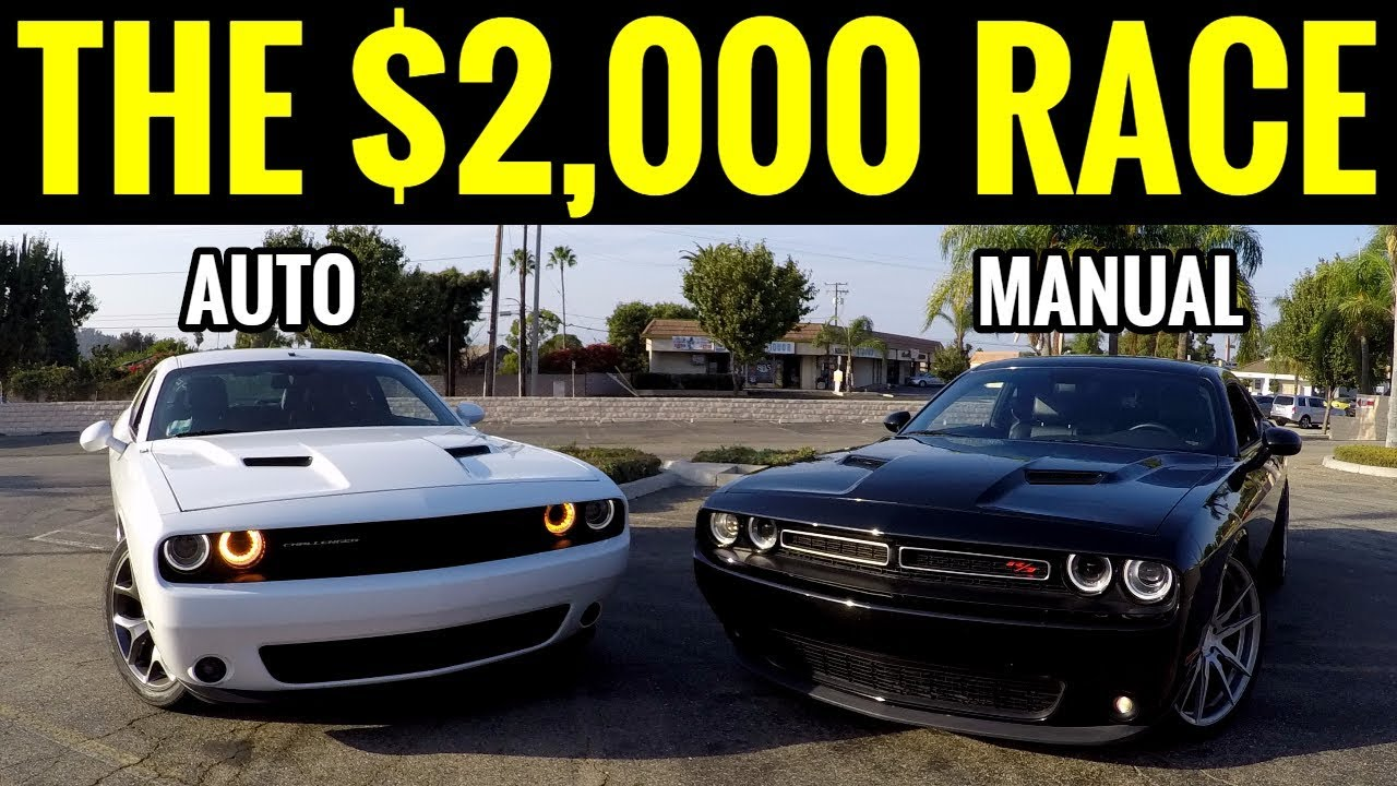 manual challenger rt vs auto challenger rt street race 2 000 rh youtube com manual vs automatic racing manual vs automatic riding lawn mowers