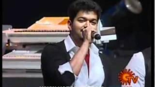 Vijay singing Aska laska Song..