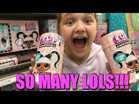 Toy Shopping at TARGET for LOL Surprise HAIR GOALS and LOL Surprise BLING LOL Dolls!