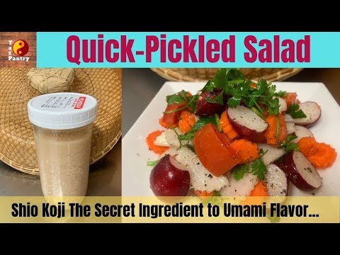 Quick Pickled Salad From Shio-Koji |  Japanese Quick Pickled