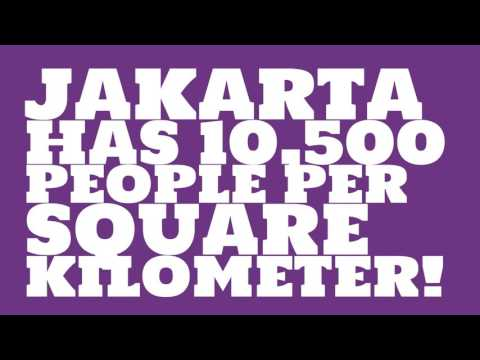 How does the population of Jakarta rank?