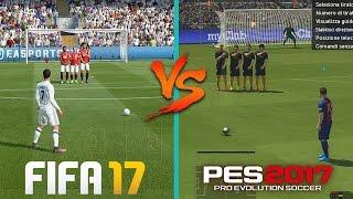FIFA 17 vs PES 2017 - Gameplay