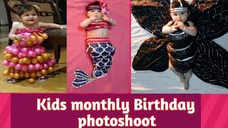 Monthly Birthday Photoshoot# Theme Dresses# Unique Dresses# Kids Photoshoot Ideas