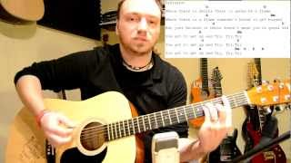 How to Play Pink TRY Tabs Akkorde Akustik Gitarre mit Klavier Intro Lesson Tutorial [HD] Mp3