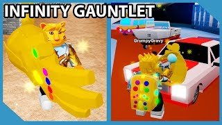 The Infinity Gauntlet VS Car Dealership - Roblox Robbery Simulator