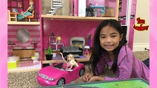 Barbie and Her Glam Convertible Visits Ms K Kidkraft Dollhouse | Toys Academy