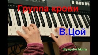 Видеоурок на синтезаторе Цой Группа крови