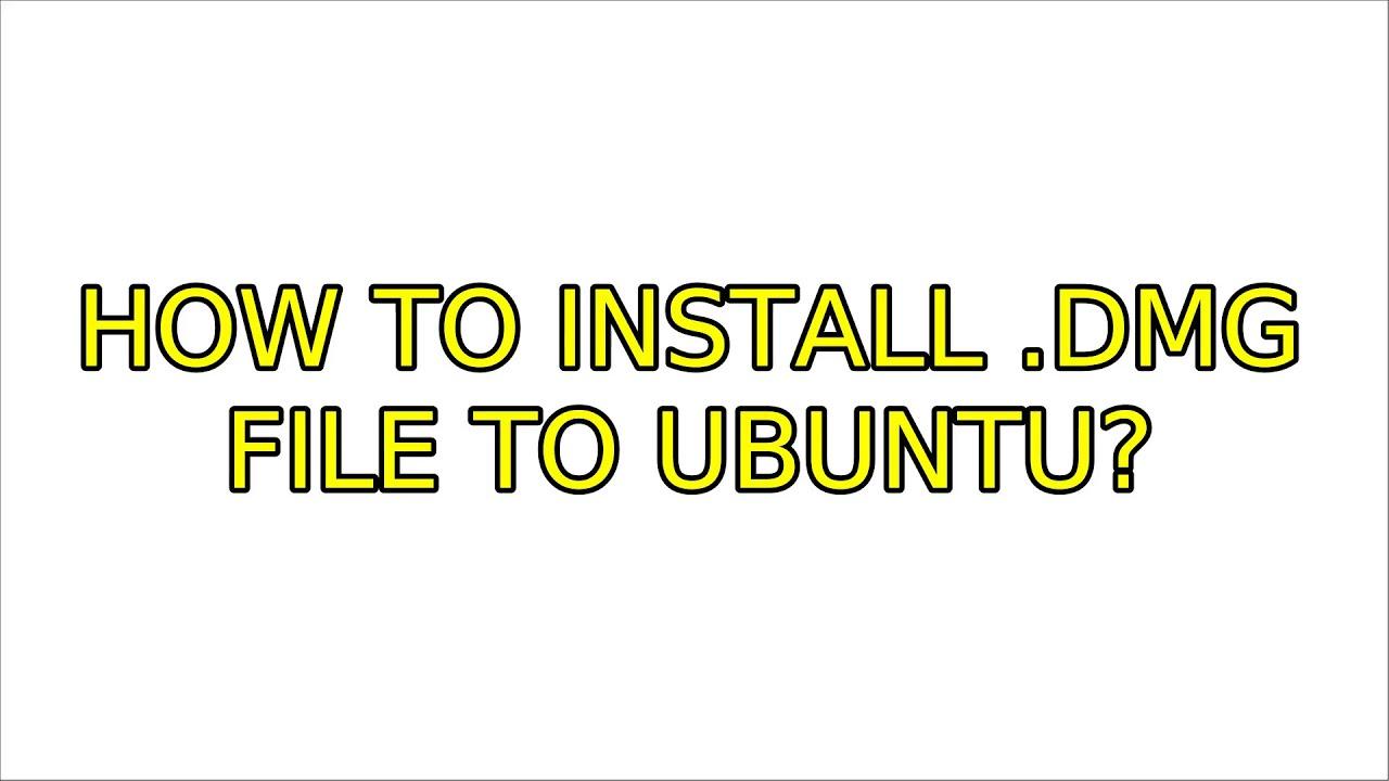 Ubuntu dmg2img