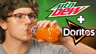 Josh Makes Doritos Flavored Mountain Dew | SNACK SMASH