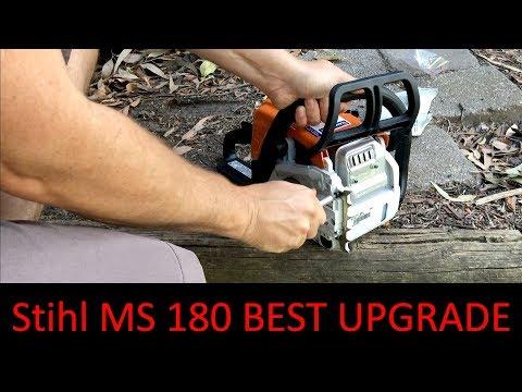 2019 Stihl MS 180 Chainsaw - Best Upgrade - Fitting a Bumping / Bucking Spike