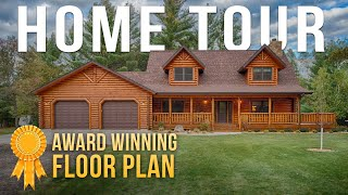 Tour A 2000 Square Feet Award Winning Log Home!