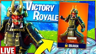 If I WIN SHOPPO the new SKIN SHOGUN!! 🔴 Live Fortnite CHALLENGE