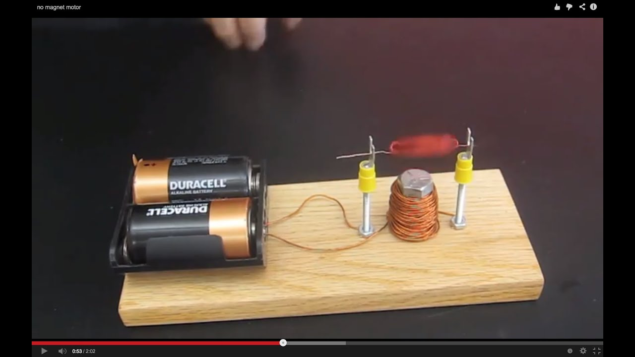 no magnet motor homemade science with bruce yeany