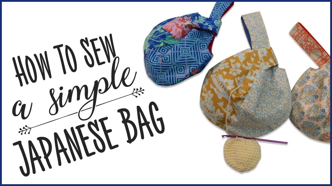 how to sew a simple japanese bag youtube