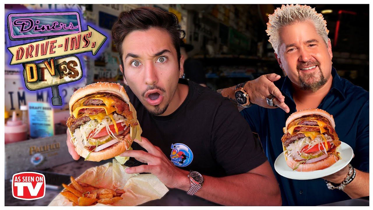 Eating at Guy Fieri's Favorite Burger Restaurant... (Diners, Drive ins, and Dives)