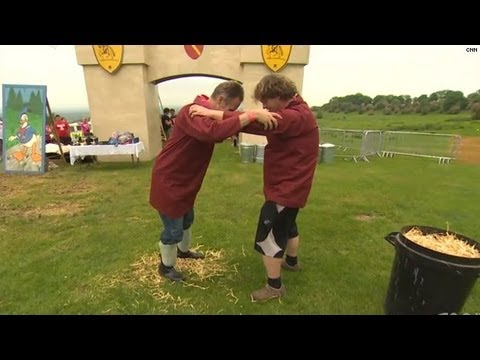 Shin-kicking: First to break a leg loses!