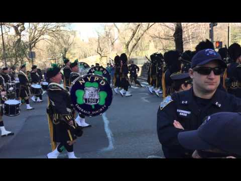 New York City Police Department Pipers St. Patrick's Day Parade