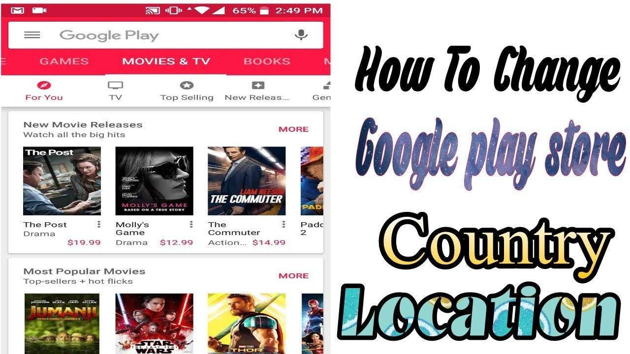 How to Change Google PlayStore Country Location in your Android phone 2018