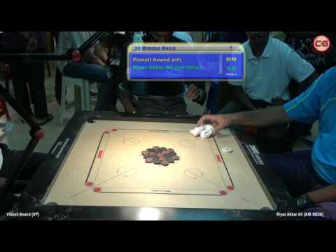 M Vinnoli Idayanand Vs Riyaz Akbar Ali  Corporate Carrom Tour 2017 Goa By Victory Events, Bengaluru